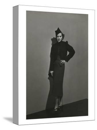 Vogue - December 1936 - Princess Nathalie Paley in Lelong Dress-Andr? Durst-Stretched Canvas Print