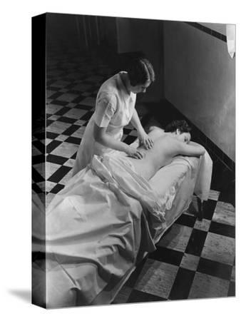 Vogue - February 1936 - Massage at The Saratoga Spa-Lusha Nelson-Stretched Canvas Print