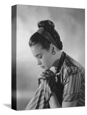 Vogue - January 1945-Frances Mclaughlin-Gill-Stretched Canvas Print