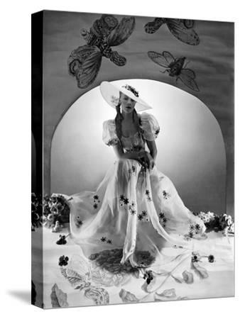 Vogue - April 1938-Horst P. Horst-Stretched Canvas Print