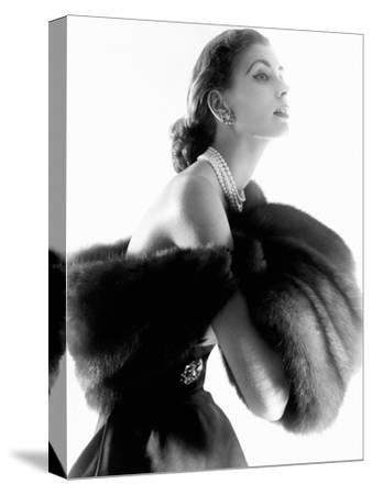 Vogue - August 1954-Horst P. Horst-Stretched Canvas Print