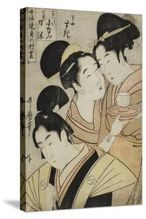 Kakogawa Konami, Oboshi Rikiya and the Maidservant Suki, C.1798-1800-Kitagawa Utamaro-Stretched Canvas Print