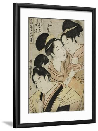 Kakogawa Konami, Oboshi Rikiya and the Maidservant Suki, C.1798-1800-Kitagawa Utamaro-Framed Giclee Print