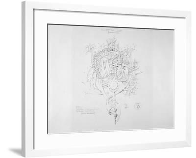 System of Architectural Ornament: Plate 10, Fluent Parallelism (Non-Euclidean), 1922-23-Louis Sullivan-Framed Giclee Print