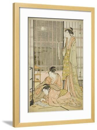 The Ninth Month, from the Series Twelve Months in the South (Minami Juni Ko), C.1784-Torii Kiyonaga-Framed Giclee Print
