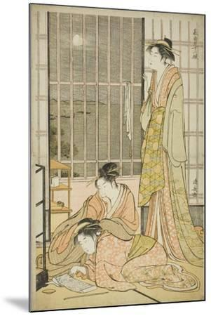 The Ninth Month, from the Series Twelve Months in the South (Minami Juni Ko), C.1784-Torii Kiyonaga-Mounted Giclee Print