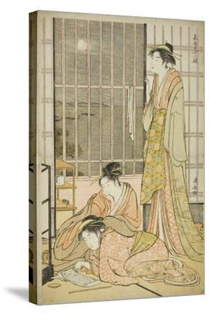 The Ninth Month, from the Series Twelve Months in the South (Minami Juni Ko), C.1784-Torii Kiyonaga-Stretched Canvas Print