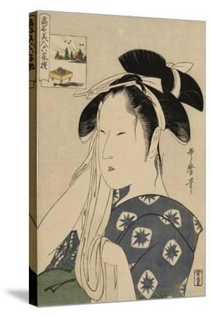 The Asahiya Widow, C. 1795-96-Kitagawa Utamaro-Stretched Canvas Print