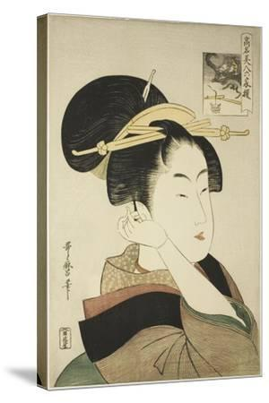 Tatsumi Roko, from the Series Renowned Beauties Likened to the Six Immortal Poets, C.1794-96-Kitagawa Utamaro-Stretched Canvas Print
