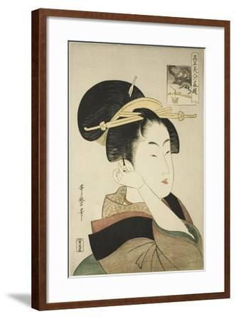 Tatsumi Roko, from the Series Renowned Beauties Likened to the Six Immortal Poets, C.1794-96-Kitagawa Utamaro-Framed Giclee Print