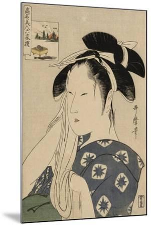 The Asahiya Widow, C. 1795-96-Kitagawa Utamaro-Mounted Giclee Print