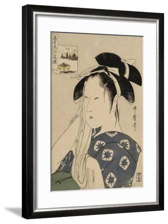 The Asahiya Widow, C. 1795-96-Kitagawa Utamaro-Framed Giclee Print