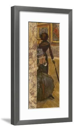 Mary Cassatt at the Louvre: the Paintings Gallery, 1885-Edgar Degas-Framed Giclee Print
