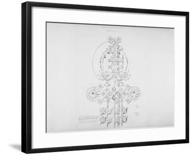 System of Architectural Ornament: Plate 11, Values of Parallel Planes (Parallelism), 1922-23-Louis Sullivan-Framed Giclee Print