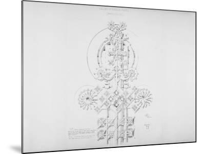 System of Architectural Ornament: Plate 11, Values of Parallel Planes (Parallelism), 1922-23-Louis Sullivan-Mounted Giclee Print