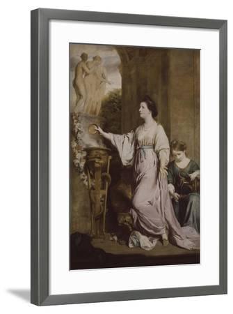 Lady Sarah Bunbury Sacrificing to the Graces, 1763-65-Joshua Reynolds-Framed Giclee Print