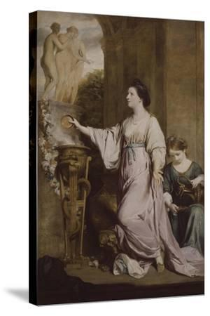 Lady Sarah Bunbury Sacrificing to the Graces, 1763-65-Joshua Reynolds-Stretched Canvas Print