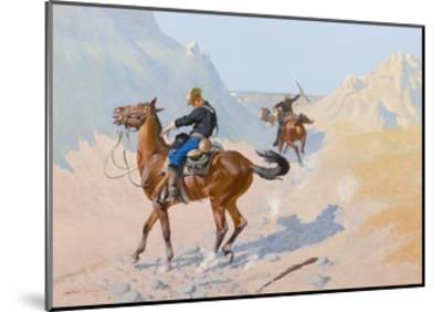 The Advance-Guard, or the Military Sacrifice (The Ambush), 1890-Frederic Remington-Mounted Giclee Print