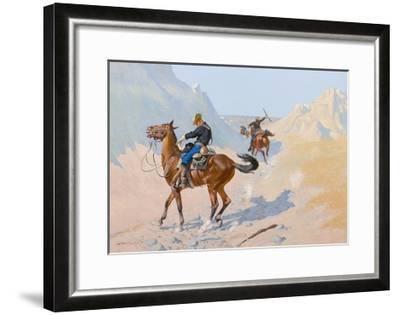The Advance-Guard, or the Military Sacrifice (The Ambush), 1890-Frederic Remington-Framed Giclee Print