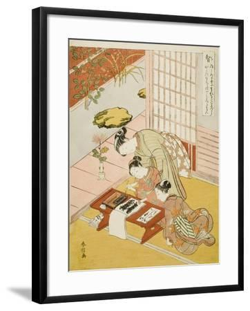 Knowledge (Chi), from the Series Five Cardinal Virtues, 1767-Suzuki Harunobu-Framed Giclee Print