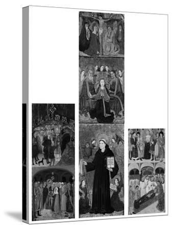 Retable of Saints Athanasius, Blaise, and Agatha, 1440-45- Master of Riglos-Stretched Canvas Print