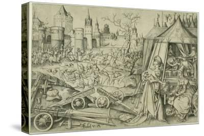 Judith, C.1495 (Engraving on Ivory Laid Paper)-Israhel van, the younger Meckenem-Stretched Canvas Print