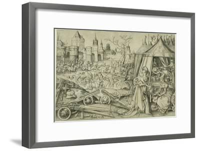 Judith, C.1495 (Engraving on Ivory Laid Paper)-Israhel van, the younger Meckenem-Framed Giclee Print