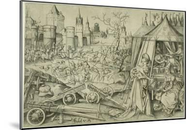 Judith, C.1495 (Engraving on Ivory Laid Paper)-Israhel van, the younger Meckenem-Mounted Giclee Print