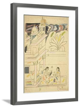 Dhanasri Ragini, 18th Century--Framed Giclee Print