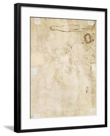 Study of a Leg, Flourish, and Doodles, 1610-17-Jacques Bellange-Framed Giclee Print
