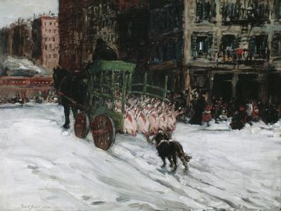 The Butcher Cart, 1901-George Luks-Framed Giclee Print
