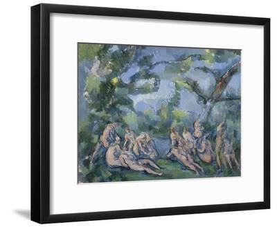 The Bathers, 1899-1904-Paul Cezanne-Framed Giclee Print