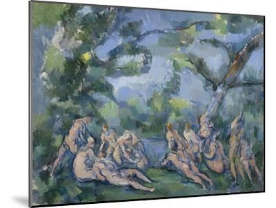 The Bathers, 1899-1904-Paul Cezanne-Mounted Giclee Print
