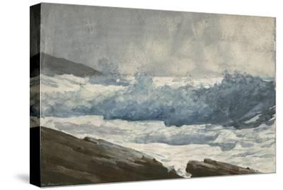 Prout's Neck, Breakers, 1883-Winslow Homer-Stretched Canvas Print