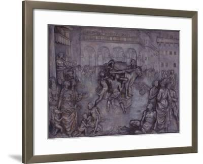 Phalaris and the Bull of Perillus, 1590-1600-Giovanni Battista Caccini-Framed Giclee Print