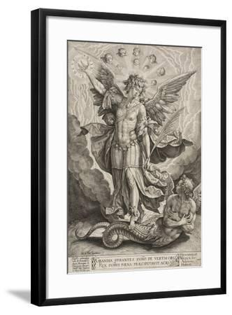 St Michael Triumphing over the Dragon, 1584-Hieronymus Wierix-Framed Giclee Print
