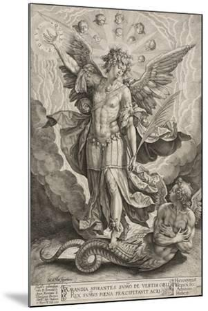 St Michael Triumphing over the Dragon, 1584-Hieronymus Wierix-Mounted Giclee Print