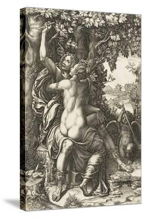 Angelica and Medoro, C.1570-Giorgio Ghisi-Stretched Canvas Print