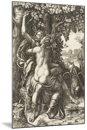 Angelica and Medoro, C.1570-Giorgio Ghisi-Mounted Giclee Print