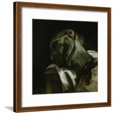 Head of a Guillotined Man, 1818-19-Theodore Gericault-Framed Giclee Print