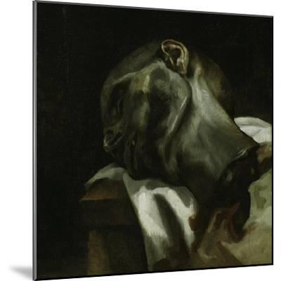 Head of a Guillotined Man, 1818-19-Theodore Gericault-Mounted Giclee Print