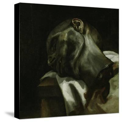 Head of a Guillotined Man, 1818-19-Theodore Gericault-Stretched Canvas Print