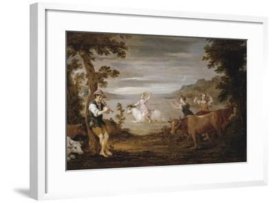 The Rape of Europa, 1654-56-David the Younger Teniers-Framed Giclee Print