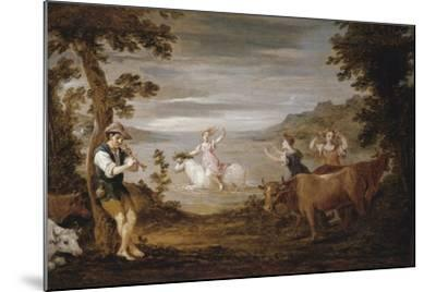 The Rape of Europa, 1654-56-David the Younger Teniers-Mounted Giclee Print