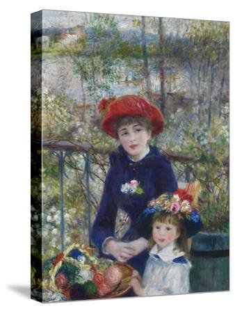 Two Sisters (On the Terrace), 1881-Pierre-Auguste Renoir-Stretched Canvas Print