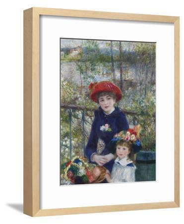 Two Sisters (On the Terrace), 1881-Pierre-Auguste Renoir-Framed Premium Giclee Print