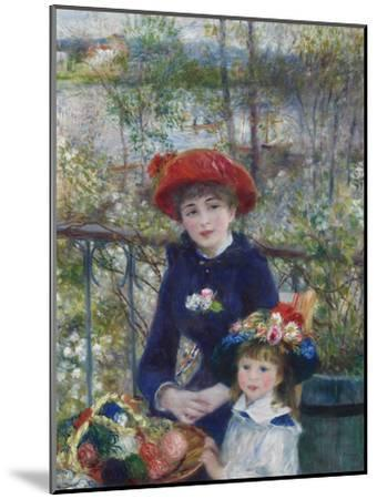 Two Sisters (On the Terrace), 1881-Pierre-Auguste Renoir-Mounted Premium Giclee Print