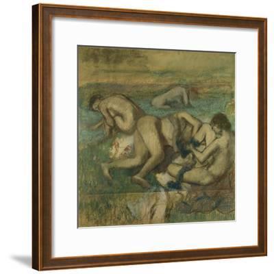 The Bathers, 1885-95-Edgar Degas-Framed Giclee Print