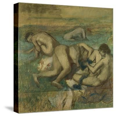 The Bathers, 1885-95-Edgar Degas-Stretched Canvas Print