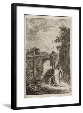 Plate Eight from Evenings in Rome, 1763-64-Hubert Robert-Framed Giclee Print
